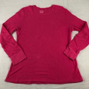 Old Navy Womens LS Pink Thin Thermal Top Size-L